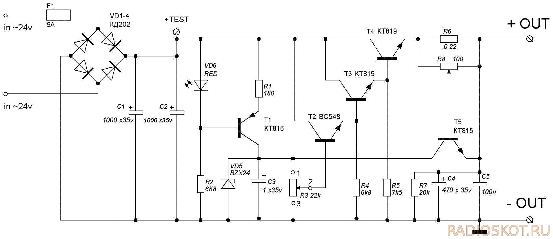 Switching Regulator Circuits 741 Splitter With Ic Tip41tip42 Electronic Projects