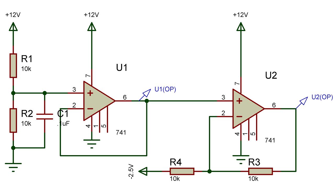 741 Op Amp Comparator Circuit Opamp