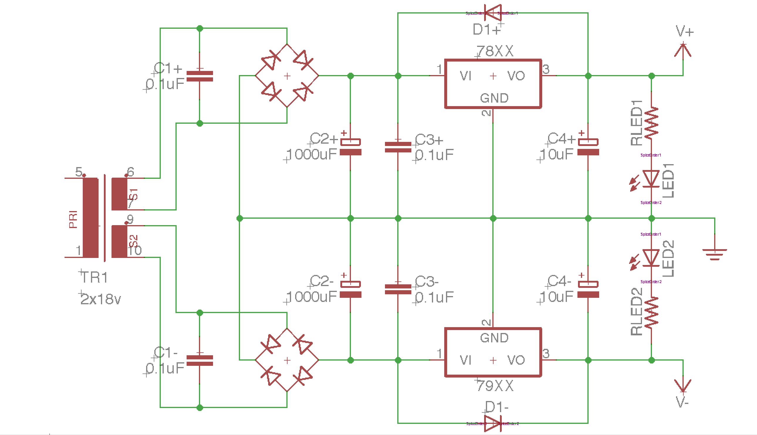 Centre Tapped Transformer Voltage Doubler