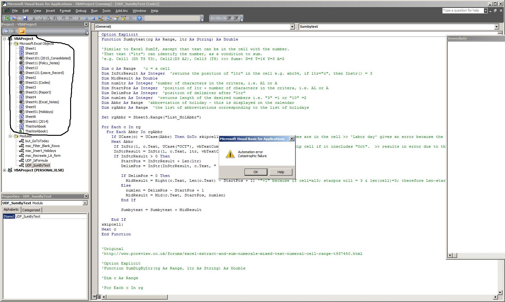 Excel Cre Tes N Existent W Ksheets Vb Project Expl Er