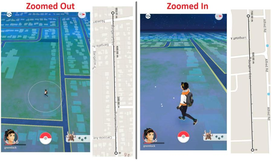 pokemon go   At what scale is the map    Arqade Distance in Pokemon Go compared to Google Maps