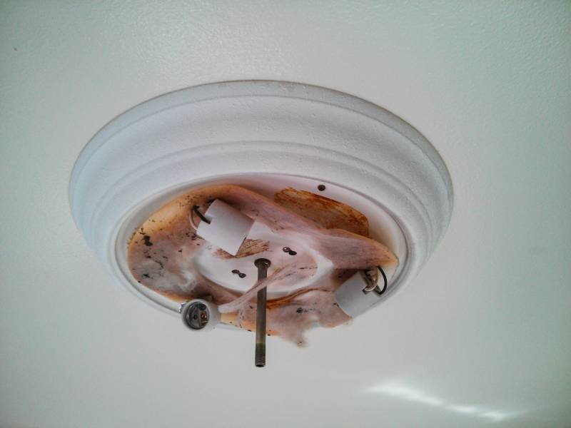 ceiling   How can I remove a stuck overhead light fixture    Home     enter image description here