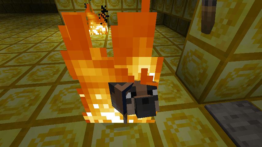 Minecraft Skin Fire Dog