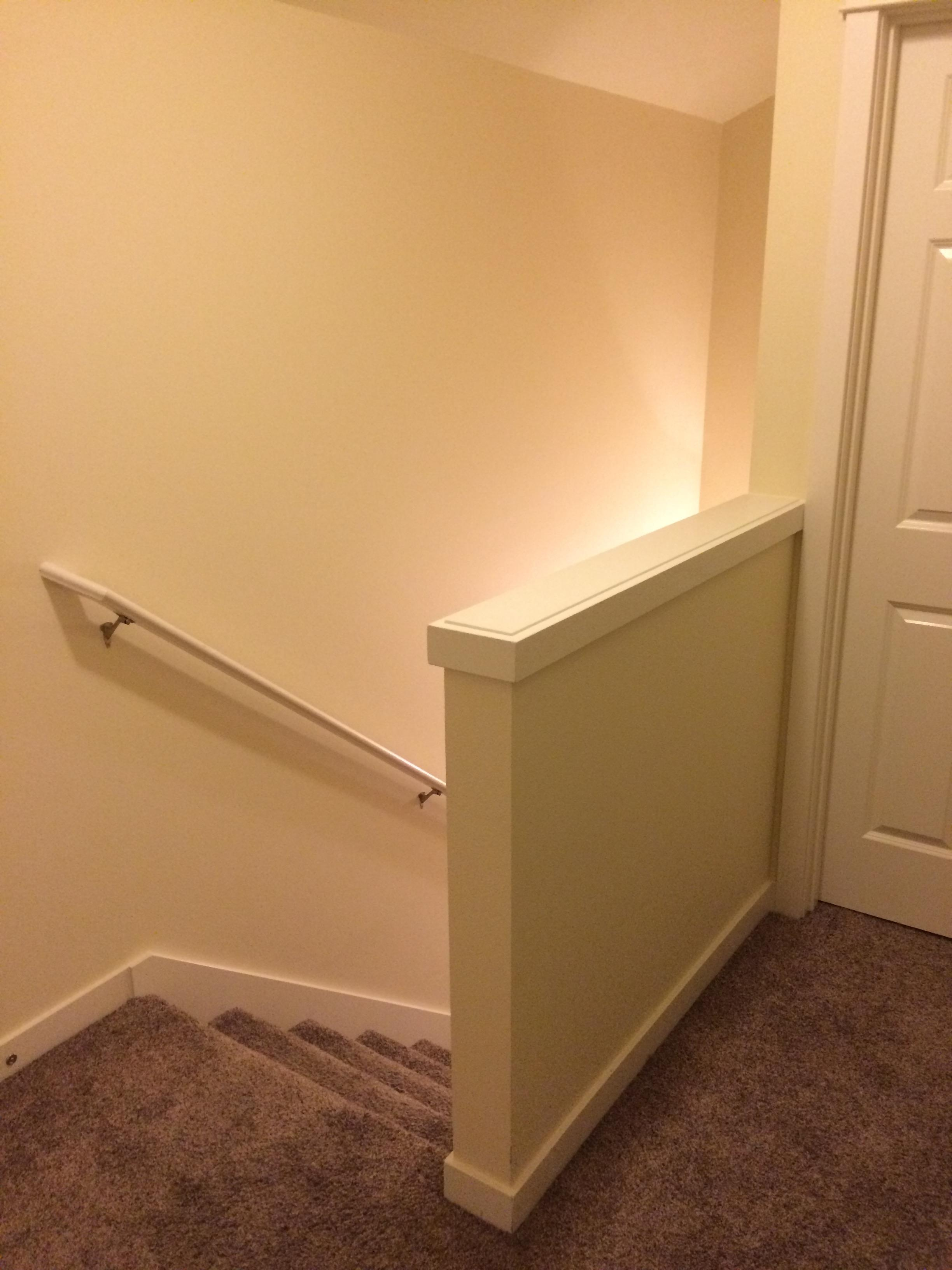Do Nec Receptacle Spacing Rules Apply To Solid Half Wall | Wall To Floor Handrail | Glass | Paint Colors | Staircase | Wrought Iron | Concrete