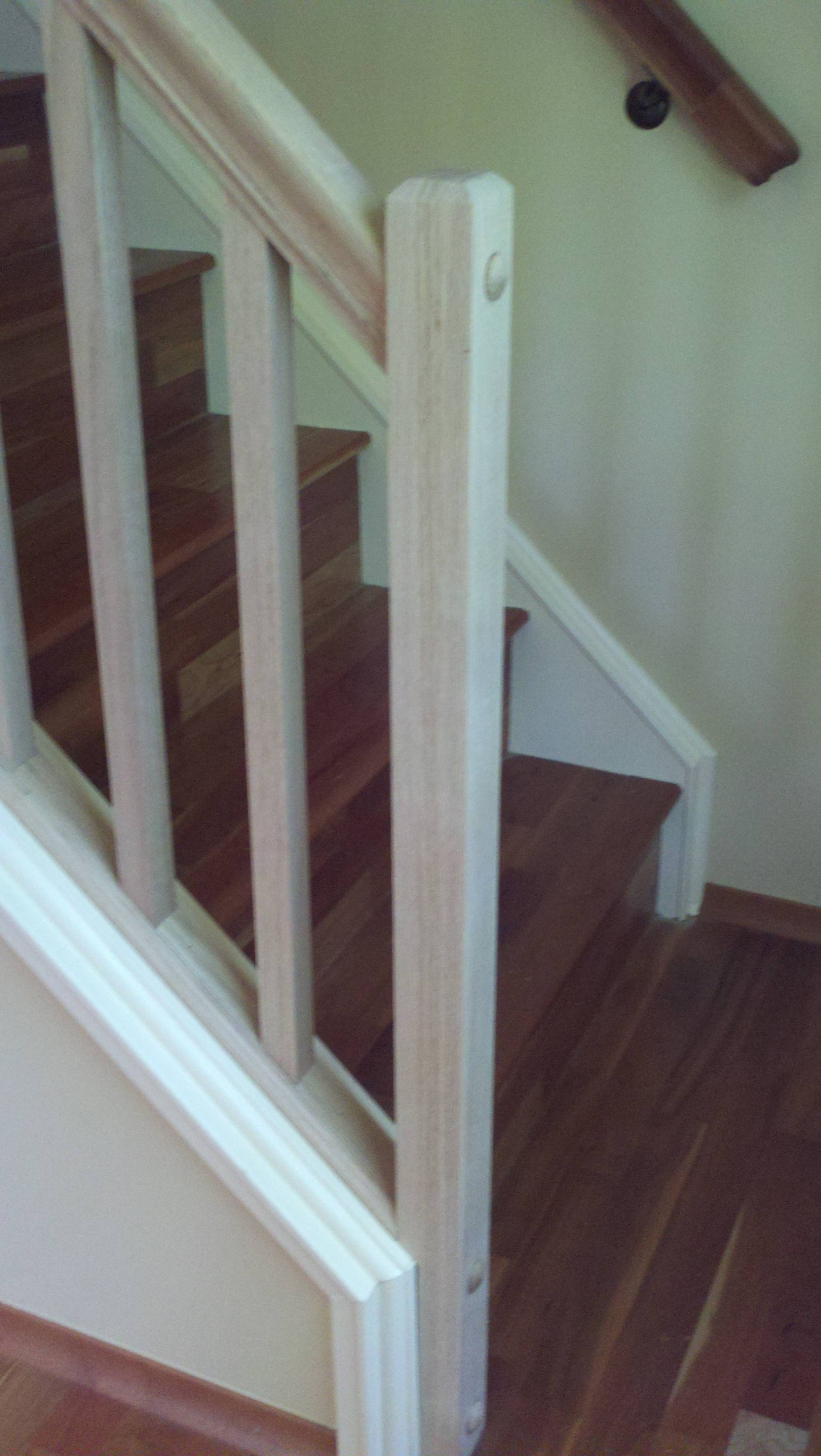 How Can I Set Up A Removable Stair Railing Home Improvement   Top Of Stairs Railing   Redo   Loft   Beautiful Staircase   Solid Wood   Handrail