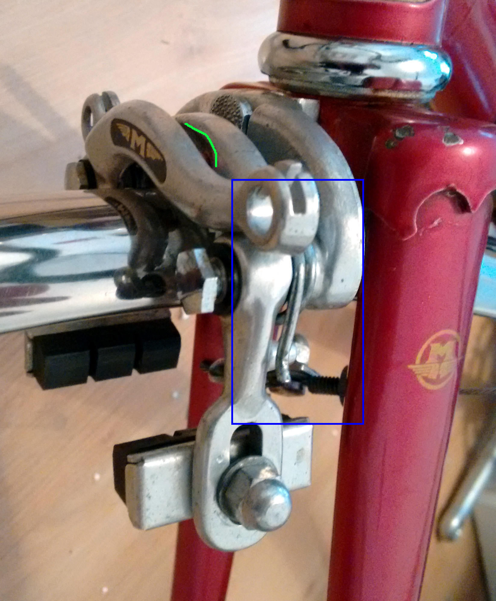 Maintenance How To Assemble 70s Era Center Pull Brake Bicycles Stack Exchange