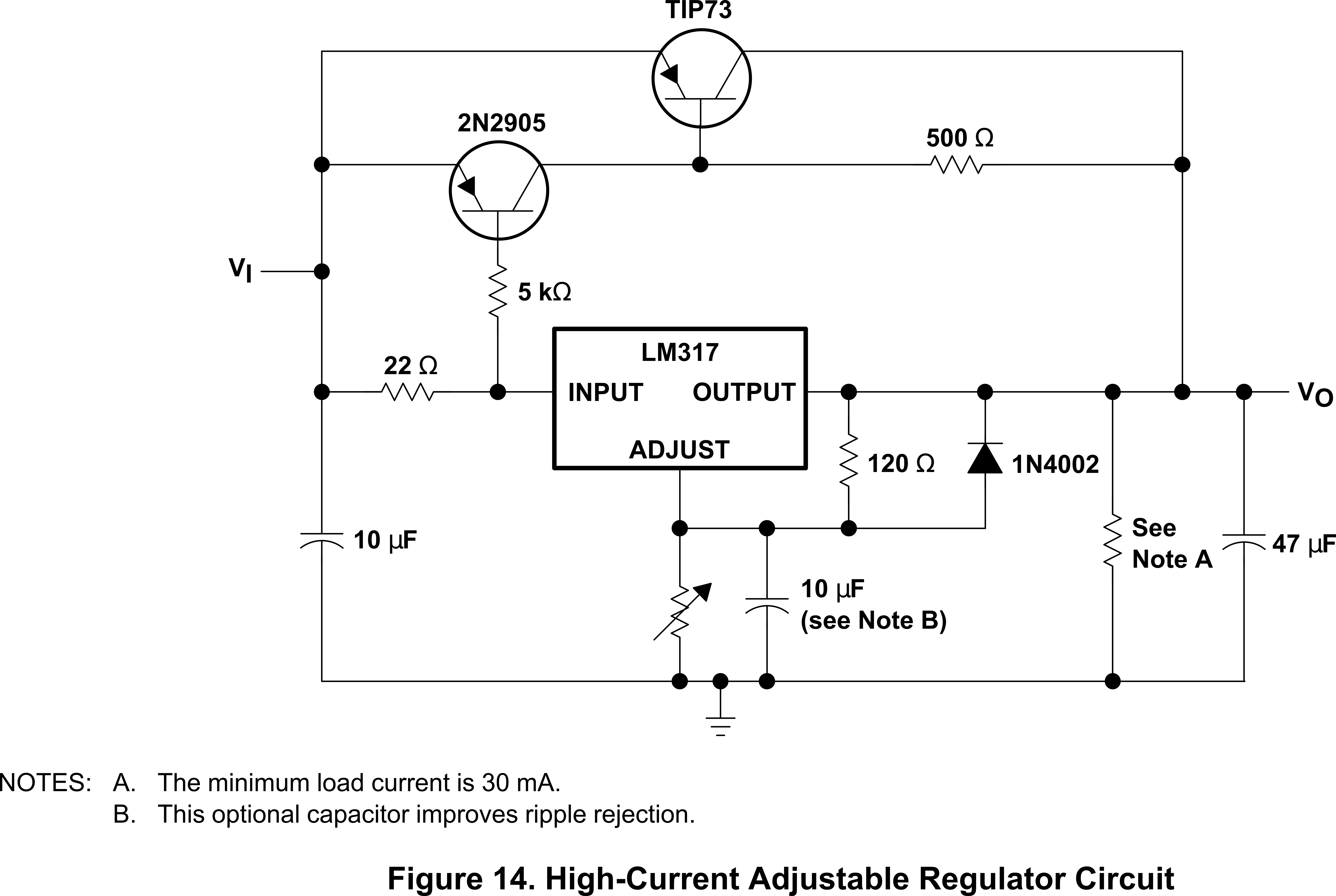 Lm317 High Current Power Supply Schematic Variable Circuit