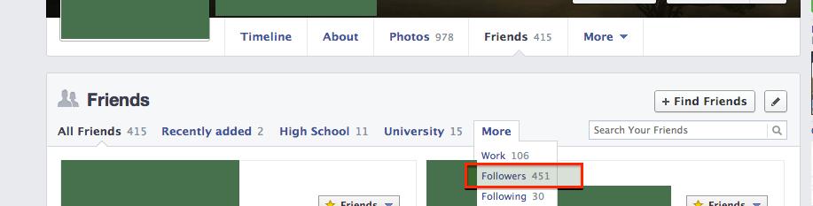 My Facebook Friends List