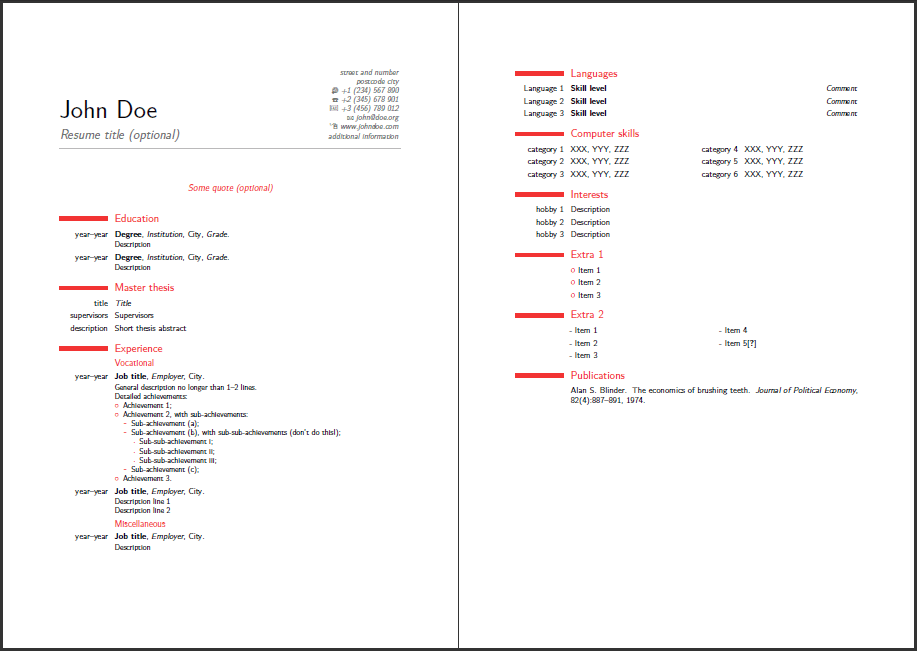 Best Resume Format What