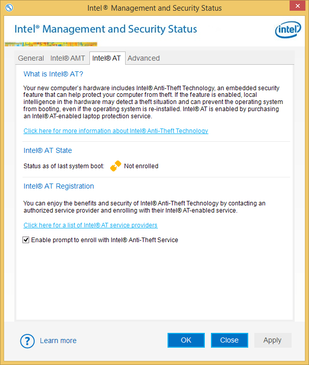 Intel Security Manager
