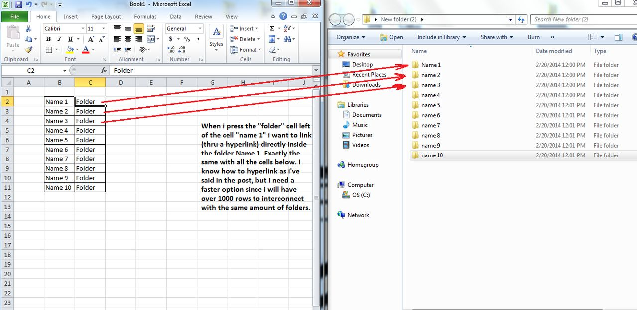 W Dows 7 Excel 2010 How To Quickly Dd Multiple Hyperl Ks To