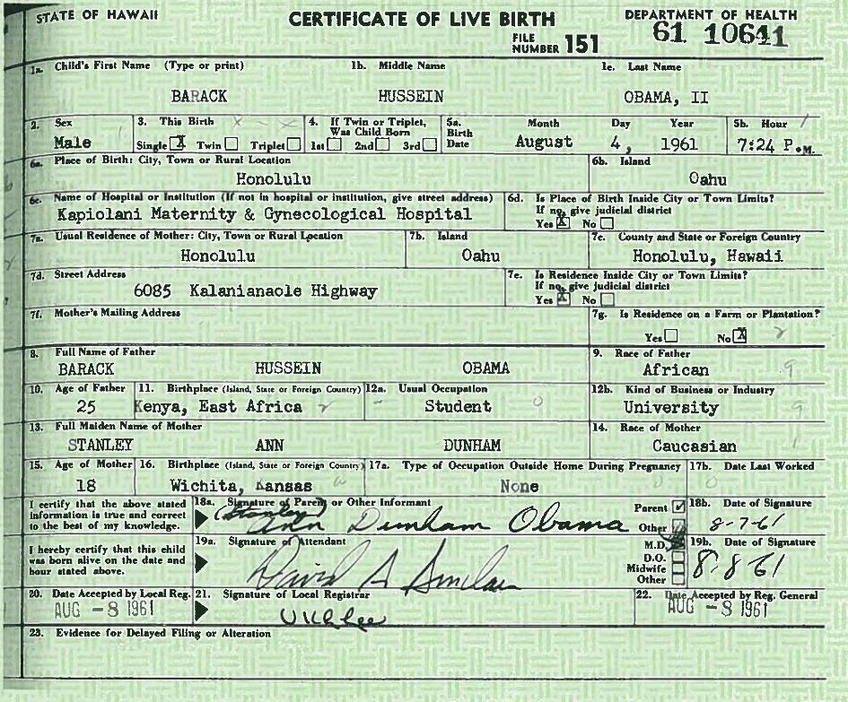 politics - Is Barack Obama a natural born US citizen ...