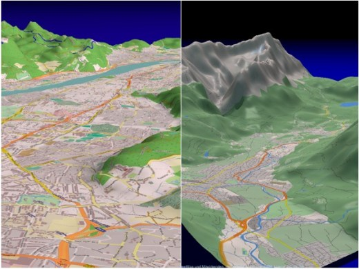 Open source free software for generating a 3D view of mapping     enter image description here