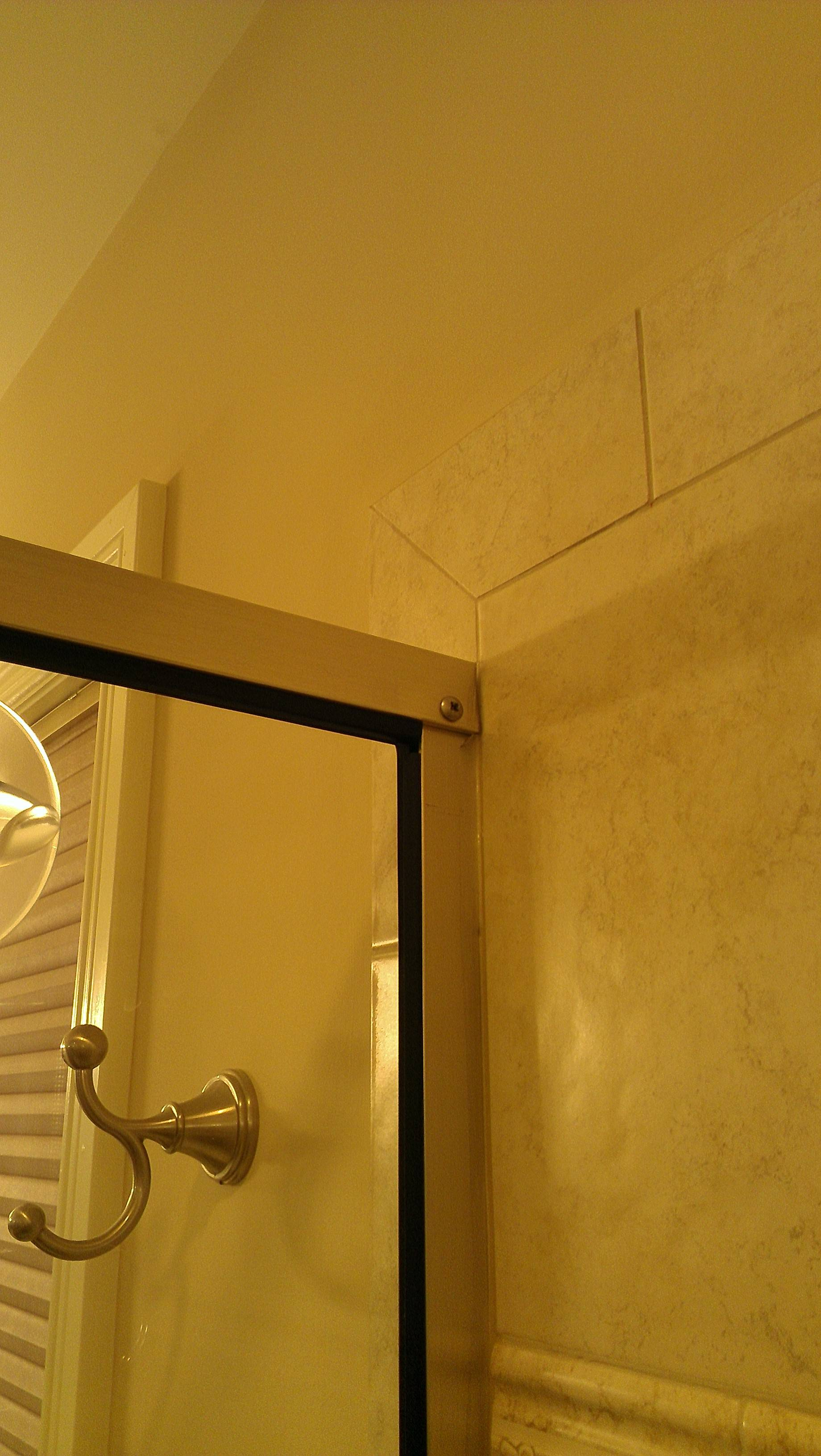 Leak Shower Frame Is Leaking At The Corner Home