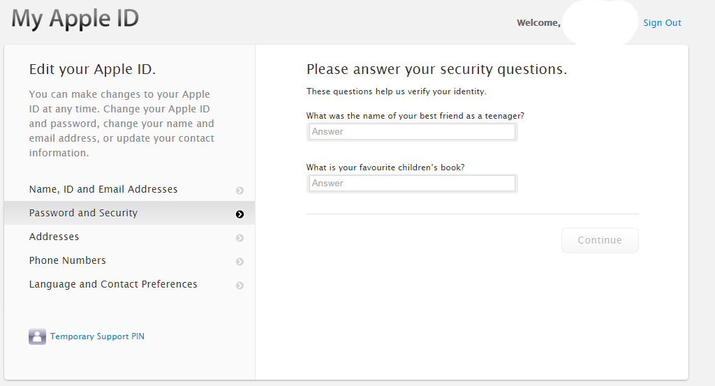 Website Security Questions