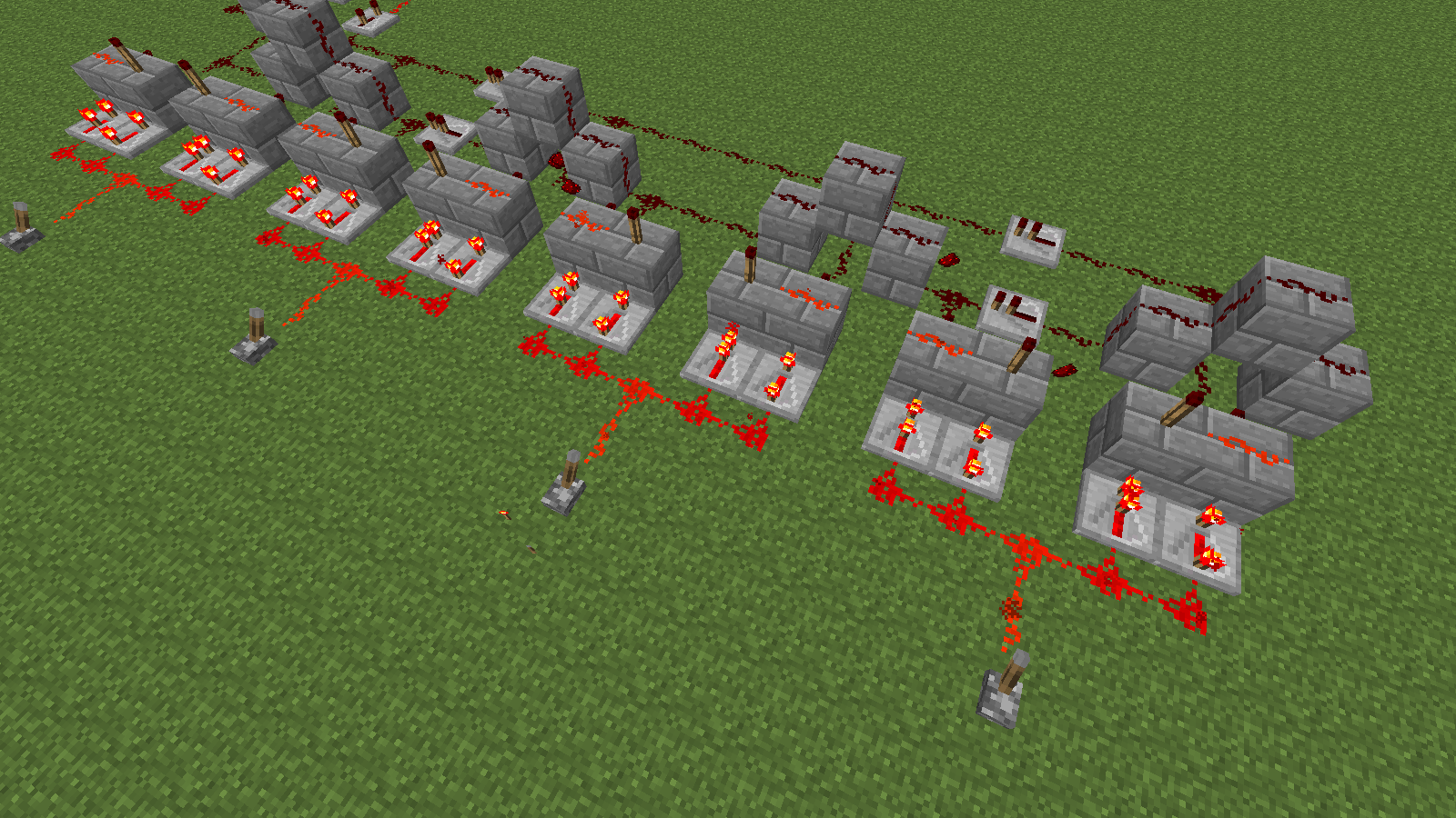 Minecraft Redstone Repeater Circuit Repeating