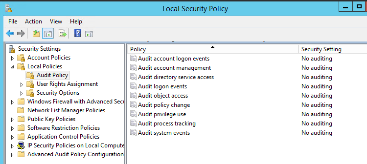 List Security Policies