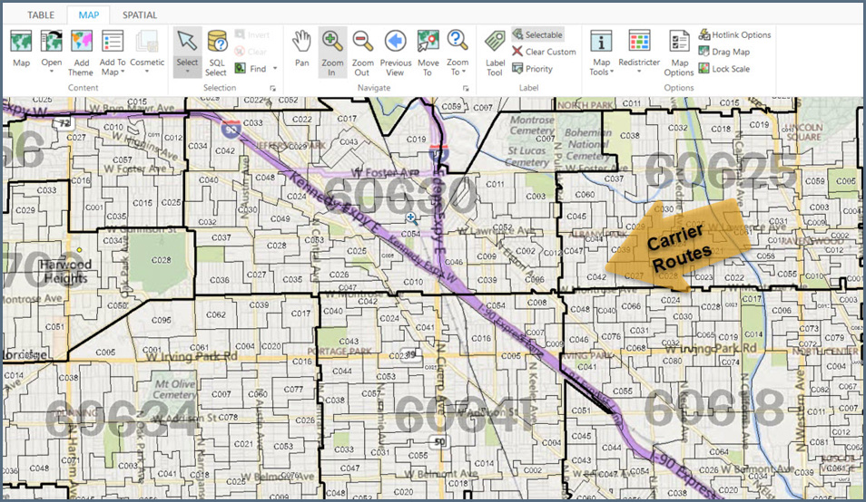 Routes Code Carrier 23451 Map Zip