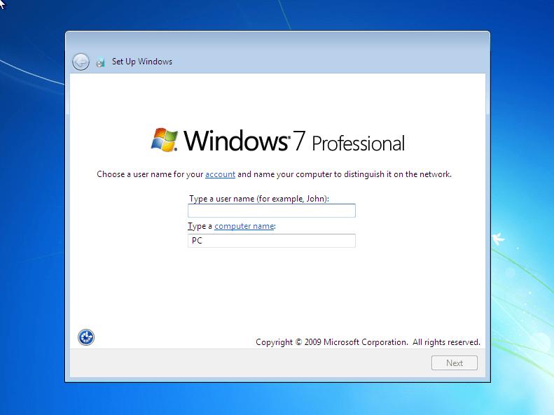Fresh Install Windows 10 Home