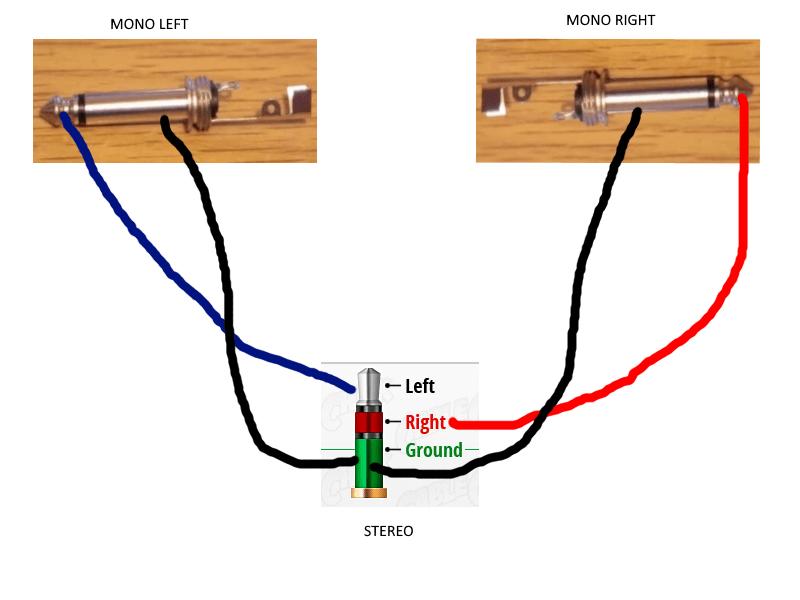 yv37W mono to stereo wiring diagram