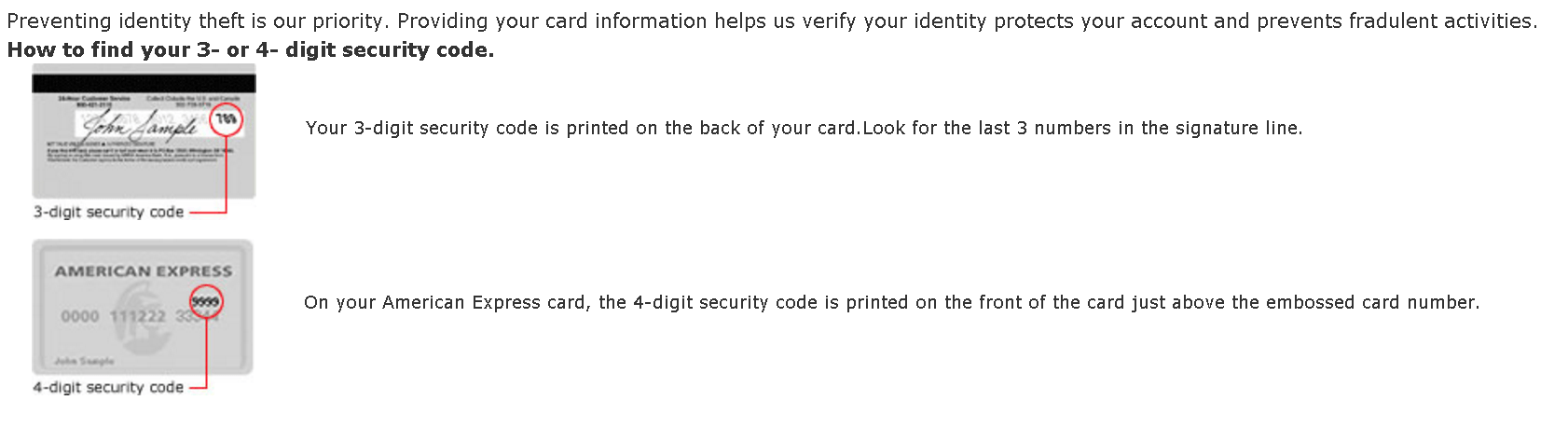 What Security Number Credit Card