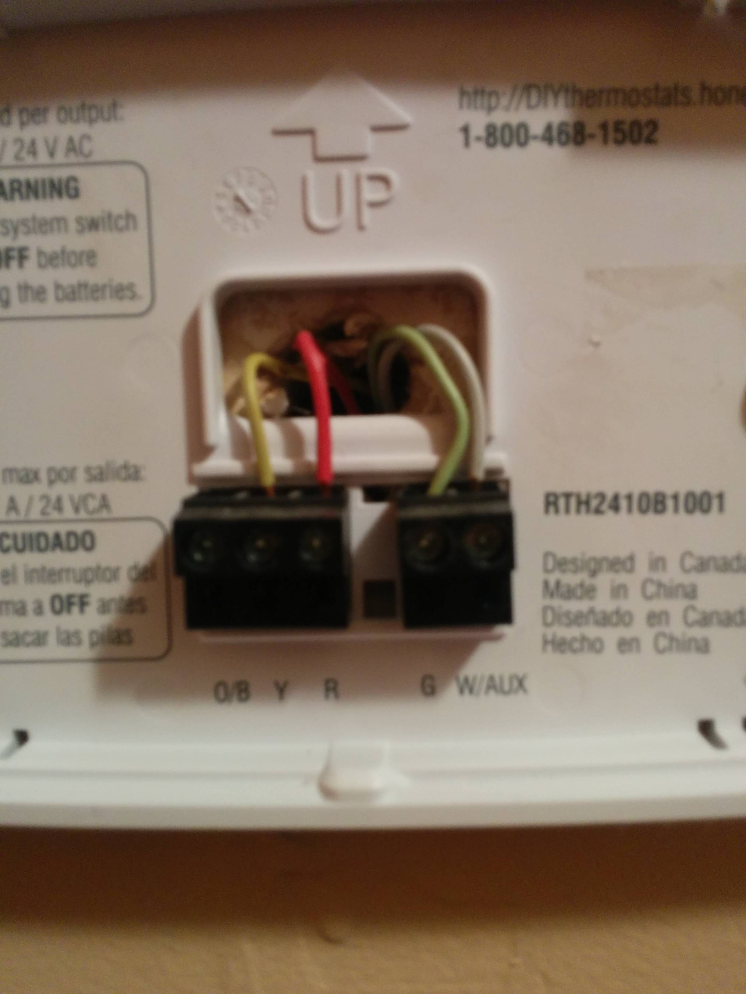 Hunter Model 44550 Thermostat Wiring Diagram