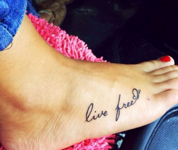 Image of: Beautiful Styleoholic Picture Of Meaningful Phrase Foot Tattoo