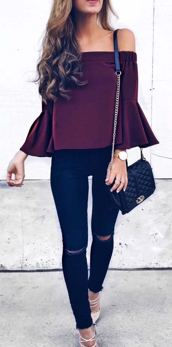 Fall Maxi Skirts And Crop Tops
