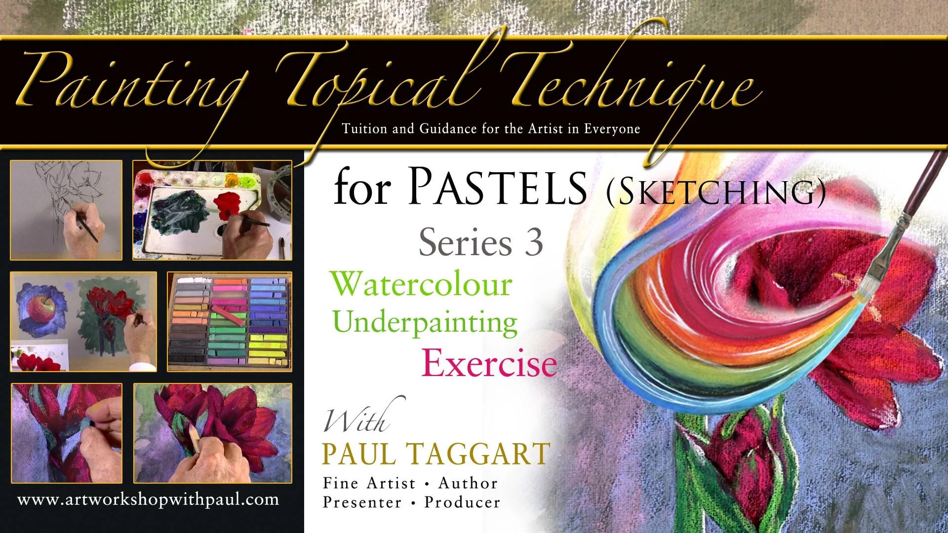 (Упражнение) акварельный фон - [Series 3] Живописная техника для зарисовки пастельными мелками с Полом Таггартом