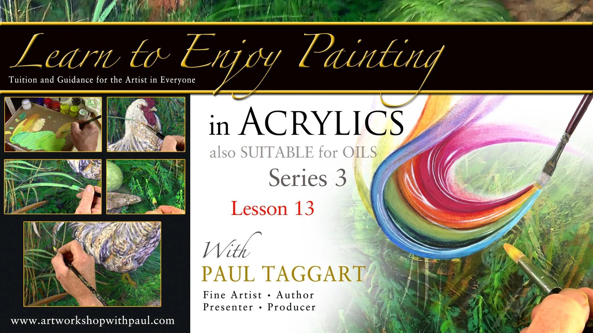 Урок 13 - '[Series 3] Научитесь получать удовольствие от рисования акрилом с Полом Таггартом.