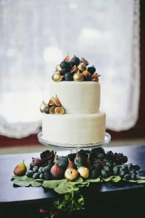 17 Stunning Wedding Cakes Topped With Fruits   Weddingomania Stunning Wedding Cakes Topped With Fruits