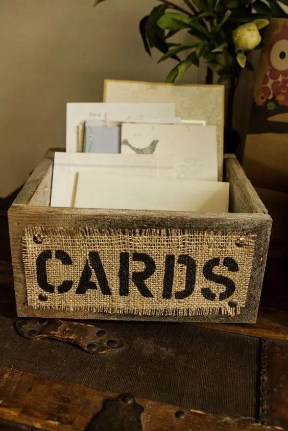 35 Rustic Wedding Card Boxes And Their Alternatives Crazyforus