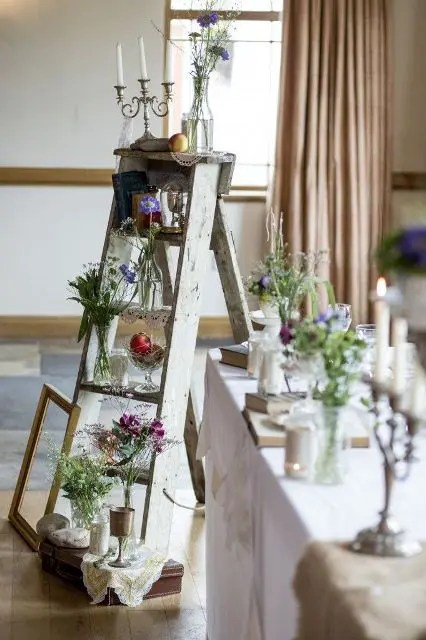 25 Awesome Ways To Incorporate Ladders Into Your Wedding Weddingomania