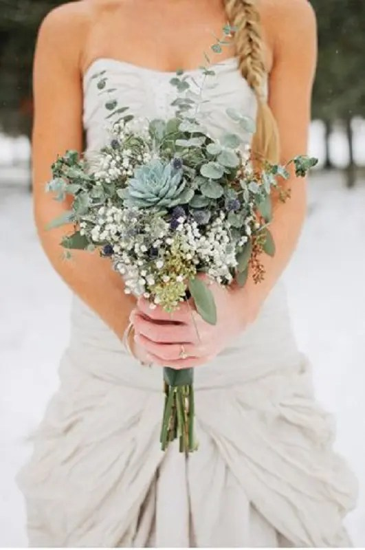 Winter Wonderland Wedding Bouquets