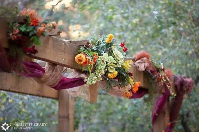 Simple Fall Wedding Decorations