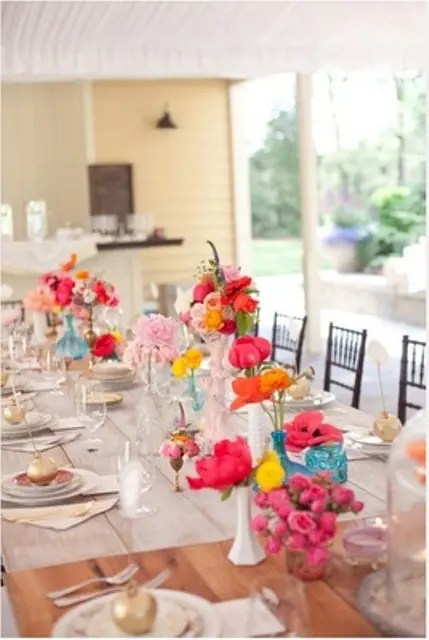 Flower Table Decorations Parties