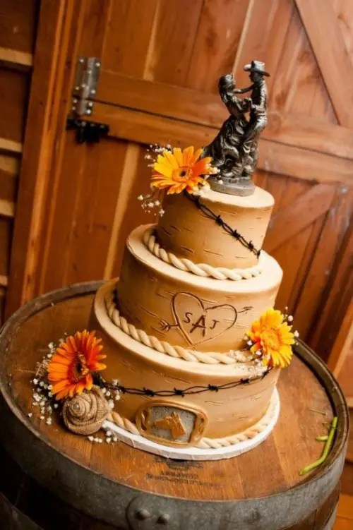 35 Lovely Rustic Inspired Country Wedding Cakes   Weddingomania Lovely Rustic Inspired Country Wedding Cakes