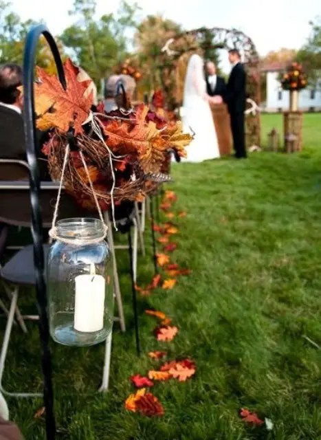 37 Stunning Fall Wedding Aisle D 233 Cor Ideas Weddingomania