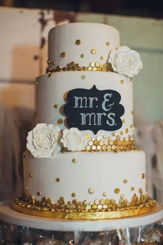 Picture Of the hottest 2015 wedding trend 30 chalkboard wedding cakes 10