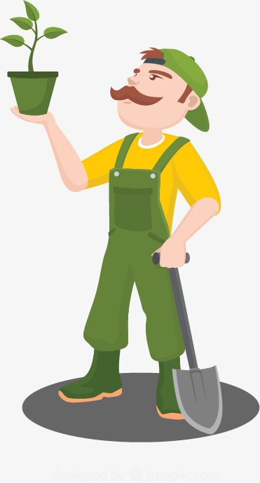 people gardening clip art - 371×689