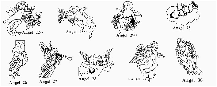 angel clipart for headstones - 708×286