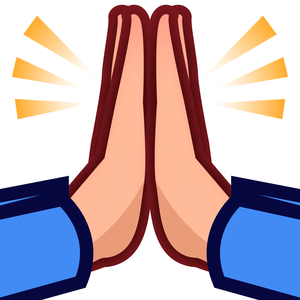praying hands emoji - HD 1024×1024