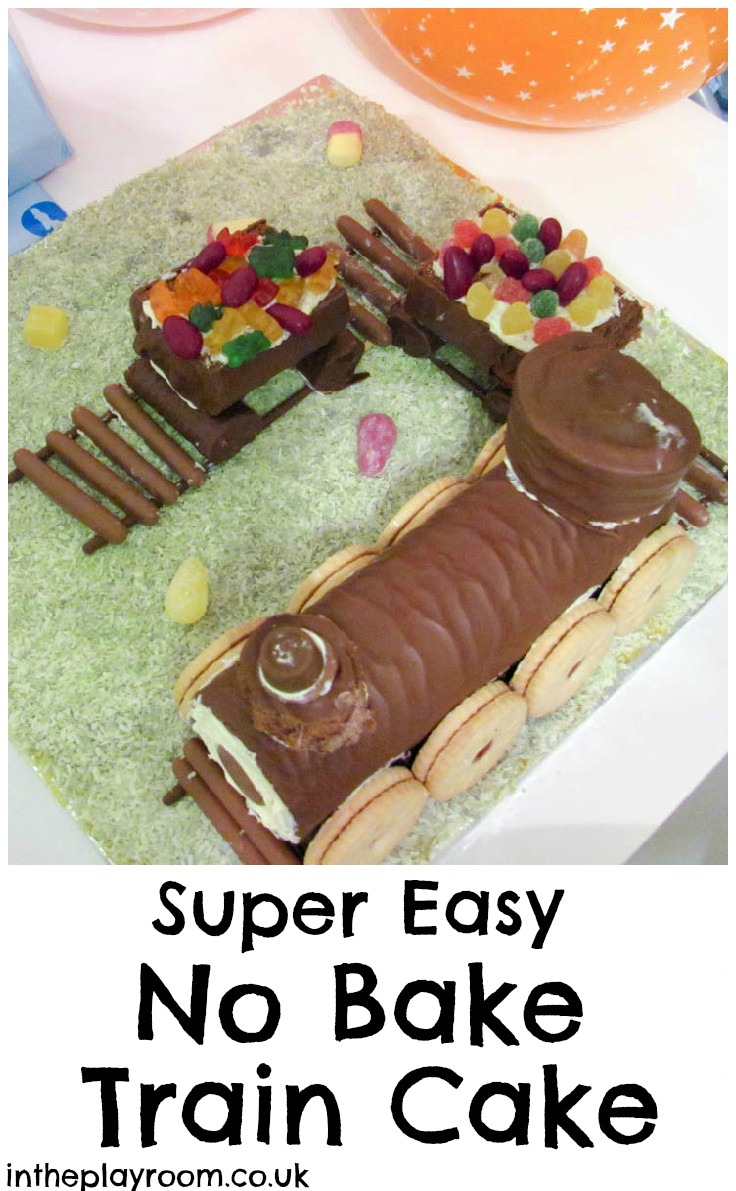 Super Easy No Bake Train Cake For Kids Parties In The