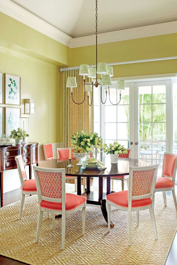 36 Best Bright Color Dining Room Design Ideas 187 Ecstasycoffee