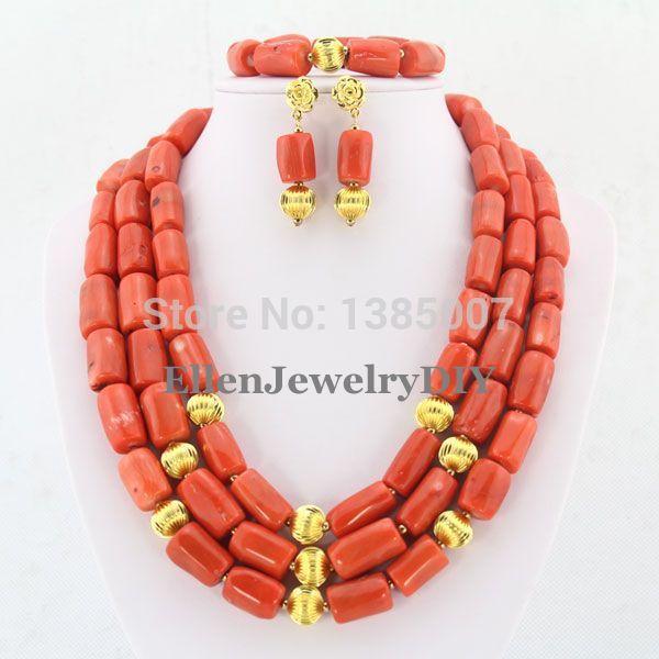 a295965b1d04f الأزياء النيجيري الزفاف الخرز الأفريقي مجموعة المجوهرات ، كريستال قلادة  سوار أقراط مجموعة WS3890