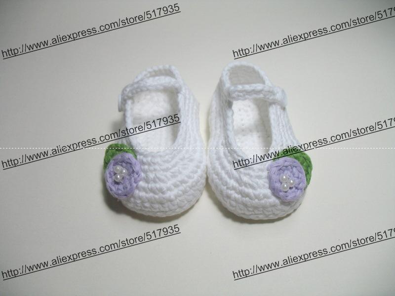2a68eee20 ̿̿̿(•̪ )الشحن مجانا ، اليدوية الكروشيه طفلة أحذية 100% ٪. باطن ...