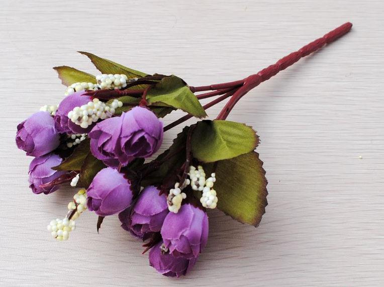 72f0826cc7357 SPR 1 قطع باقة الحرير الورود الكورية QQ صغيرة الإبهام روز الشاي الزفاف باقة  الاصطناعي الزهور مور الألوان المتاحة