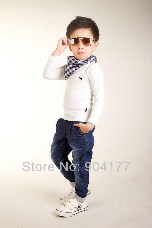 8e6dcaf25dcaf ᗚالشحن مجانا الخريف الربيع القطن قميص الصبي ملابس الأطفال - w532