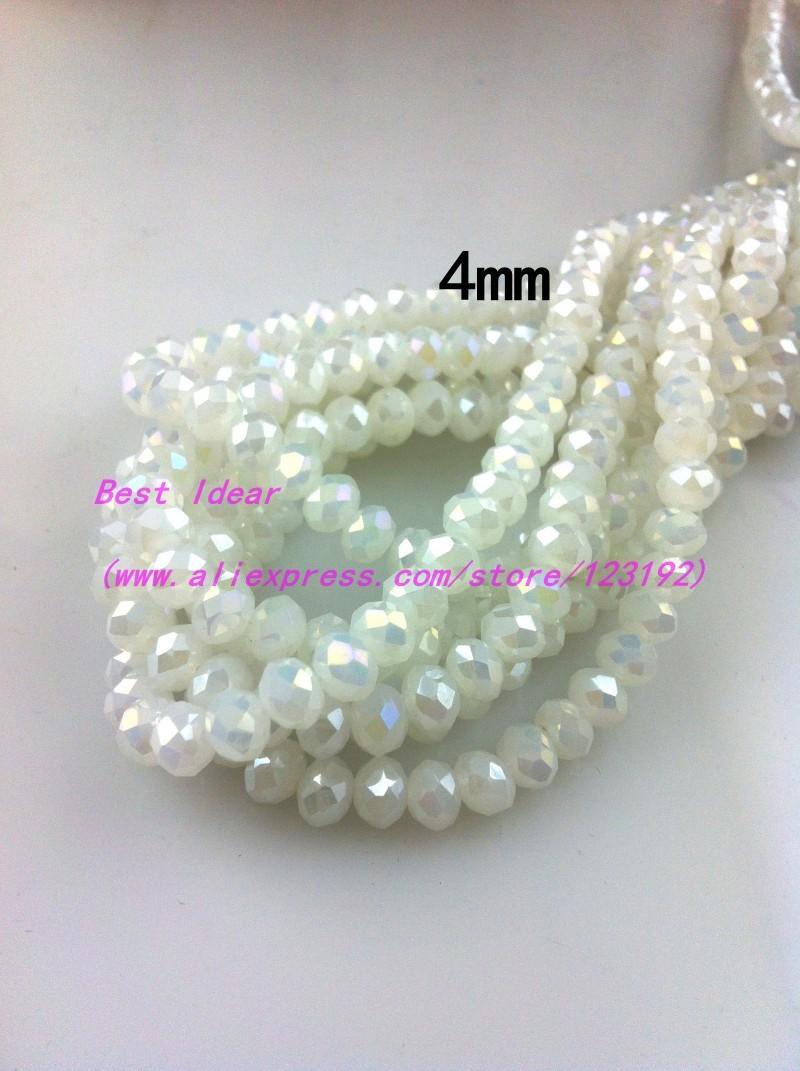Olive AB À facettes rodé perles 100 pcs #gg11//1 4mm