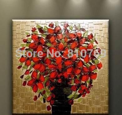 baf8ac5f2 جديد رسمت باليد الحرة الشحن النفط اللوحة الشهيرة عالية الجودة الحديثة  اللوحة زهرة صور DM15050345